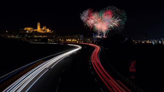 Fireworks in Spain wallpaper