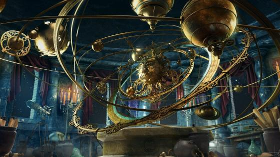 Steampunk planetarium wallpaper