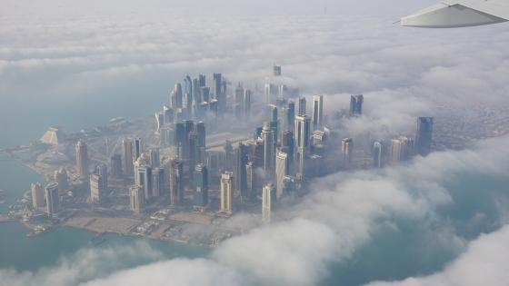 Doha - Aerial photography wallpaper
