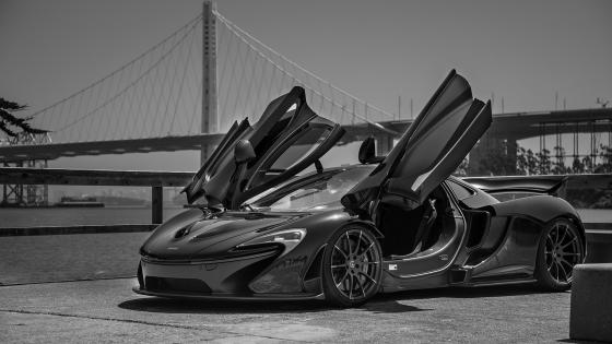 McLaren P1 - Black and White Photography wallpaper