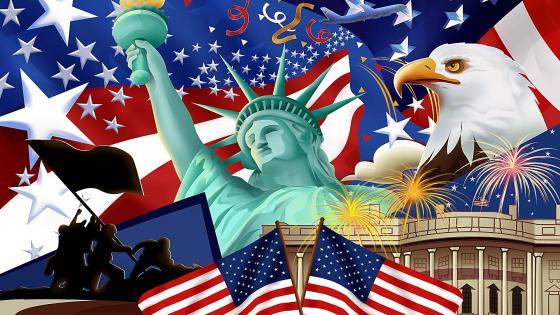 American symbols wallpaper