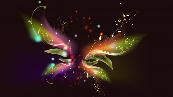 Luminous butterfly wings wallpaper