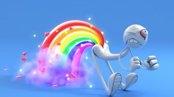 Farting rainbows wallpaper