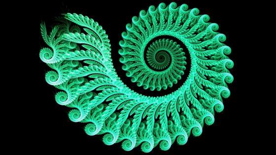 Spiral green wallpaper