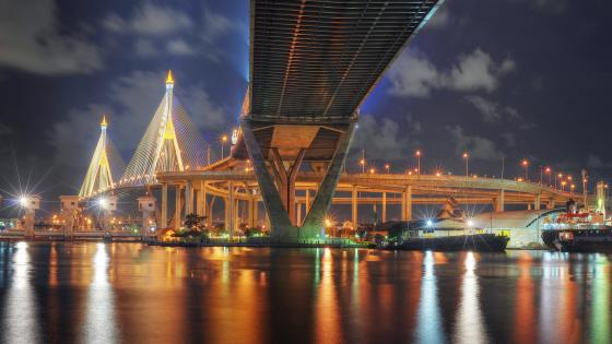 Bhumibol Bridge (Industrial Ring Road Bridge) wallpaper