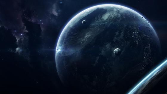 Unexplored earthlike planet - Sci-fi art wallpaper