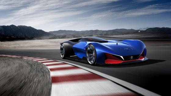 Peugeot L500 R Hybrid racing concept car wallpaper
