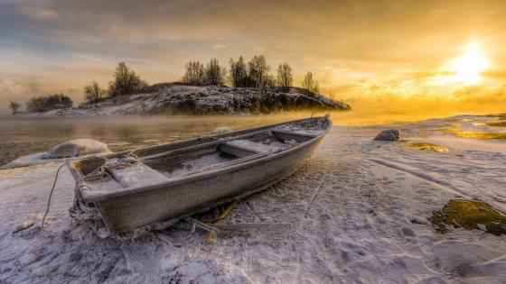 Hoary boat wallpaper