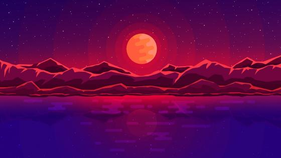 Moon rays wallpaper