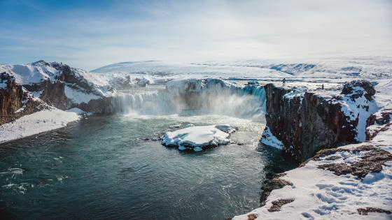 Godafoss waterfall (Iceland) wallpaper