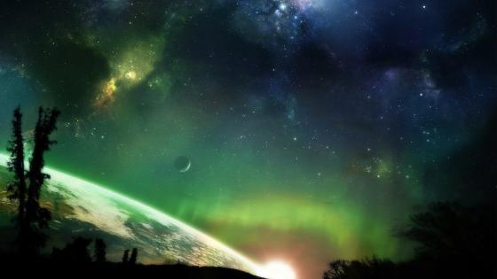 Colorful cosmos - Fantasy art wallpaper