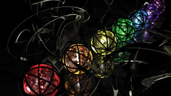 Colorful spheres wallpaper