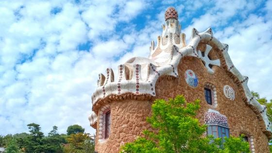 Gaudi House, Guell Park, Barcelona wallpaper