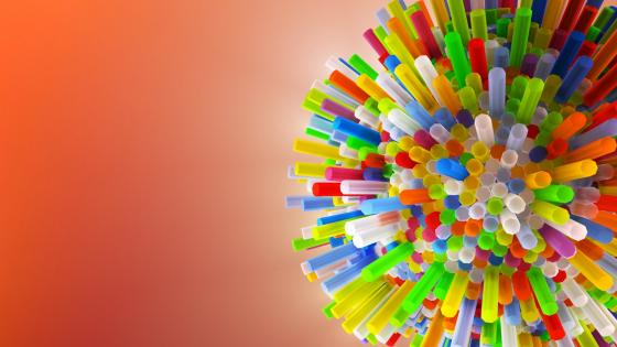 Colorful straws wallpaper
