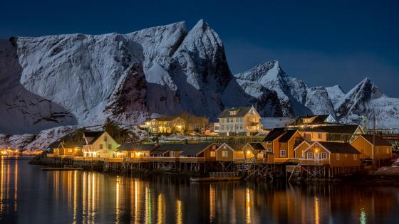 Sakrisoya (Lofoten Islands, Norway) wallpaper