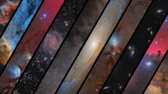 Striped space art wallpaper