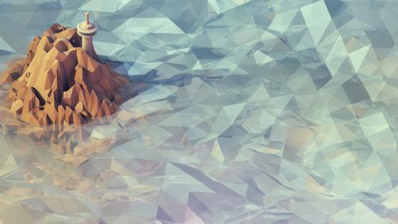 Polygon lighthouse wallpaper