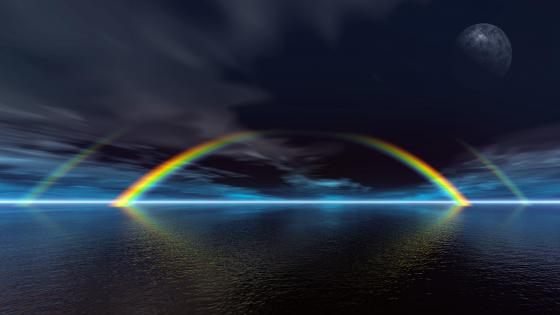 8K Double rainbow wallpaper