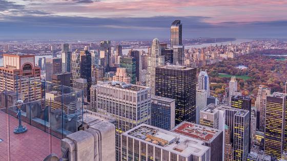 Central Park view wallpaper