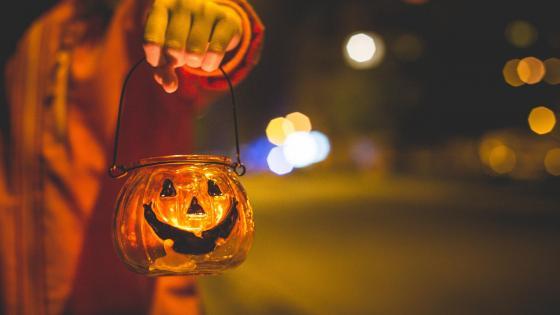 Halloween candlelight wallpaper