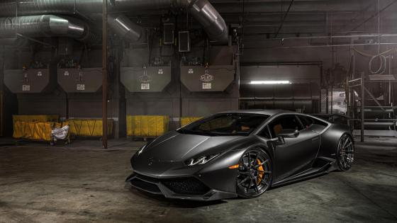 Black Lamborghini Huracan wallpaper
