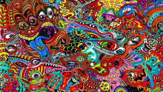 Psychedelic art wallpaper