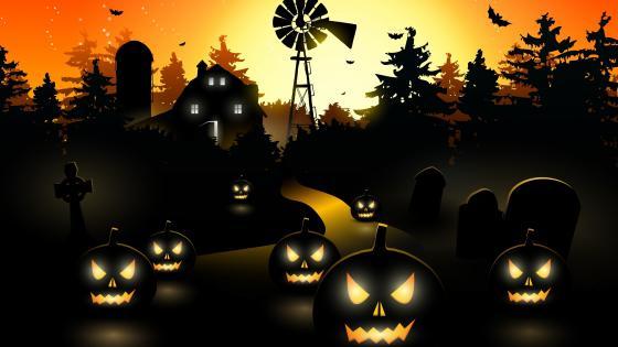 Halloween Jack O'lanterns wallpaper