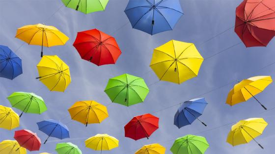 Colorful umbrellas wallpaper