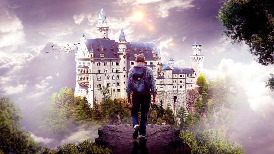 Neuschwanstein Castle fantasy art wallpaper