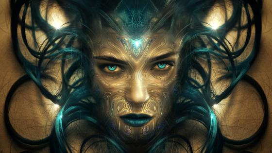 Fantasy woman portrait wallpaper