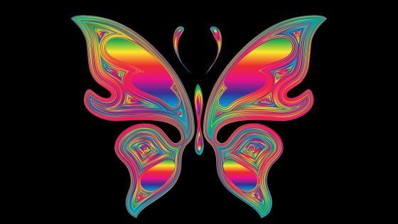 Butterfly neon art wallpaper