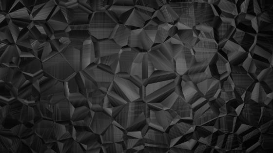 Black polygonal design wallpaper