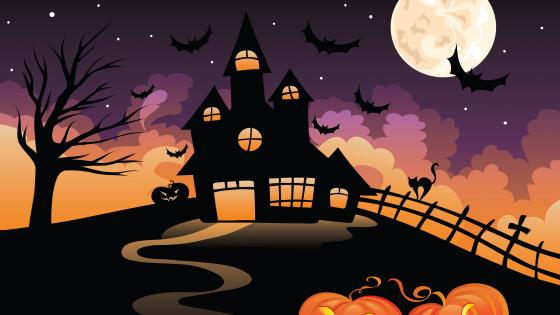 Halloween illustration wallpaper