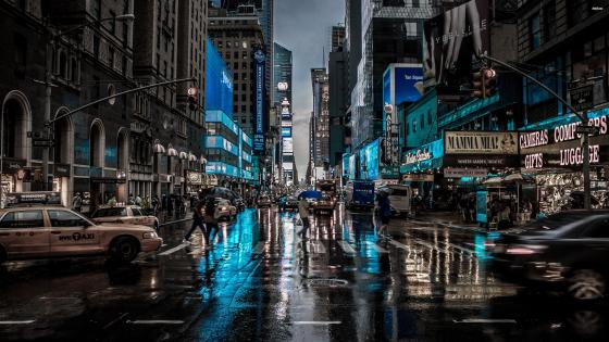New York City in blue wallpaper
