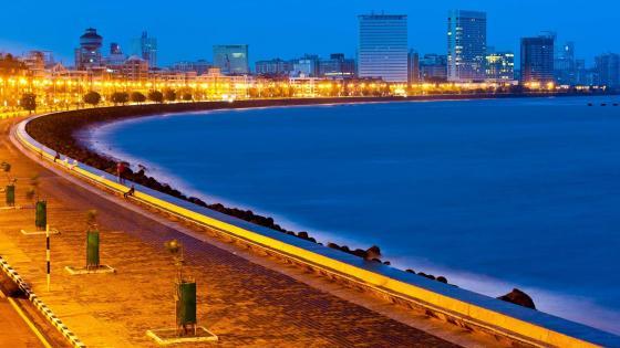 Mumbai at dusk wallpaper