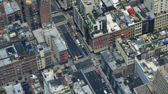 Aerial Photo of NYC wallpaper