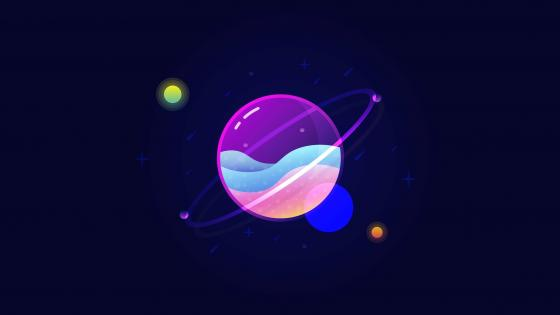 Planets - Abstract art wallpaper