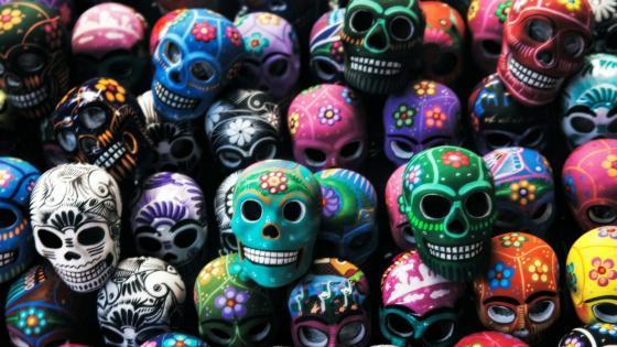Sugar skulls wallpaper