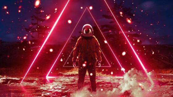 Vaporwave astronaut wallpaper