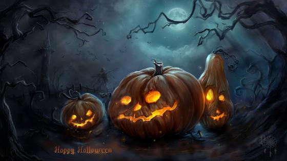 Halloween Night Pumpkins wallpaper