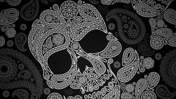 Dia de muertos sugar skull wallpaper