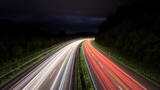 Highway traffic light trails - Long Exposure Photography wallpaper