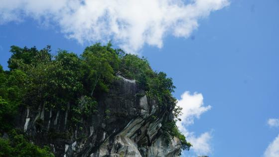 Cliff over Lake Toba, North Sumatra wallpaper