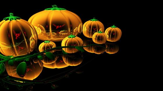 Glass pumpkins wallpaper