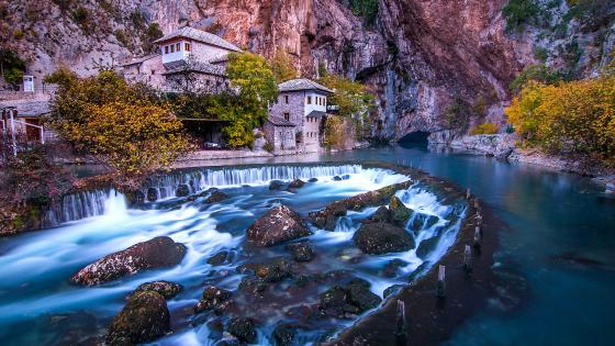 Blagaj Tekke on Buna River wallpaper