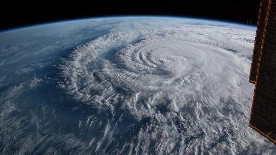 Hurricane Florence as it was making landfall wallpaper
