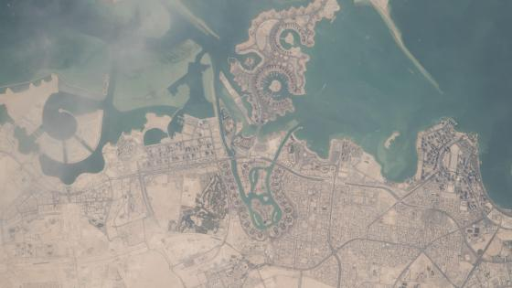 Satellite Imagery of Qatar's Capital, Doha wallpaper