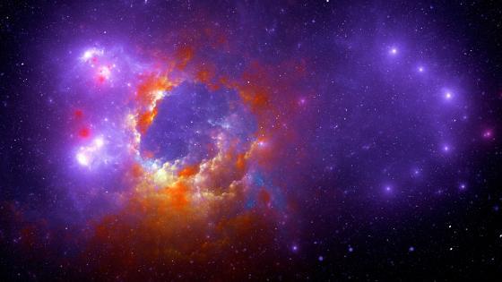 Nebula with stars wallpaper
