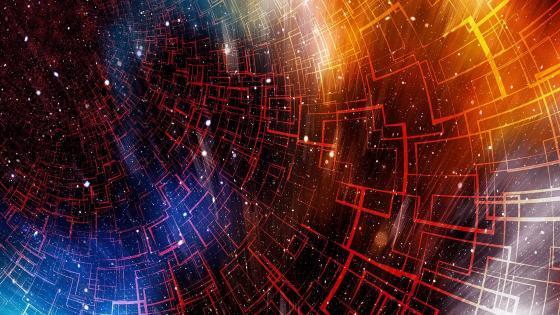 Space fractal wallpaper
