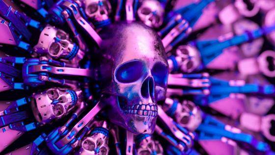 Metal skulls wallpaper